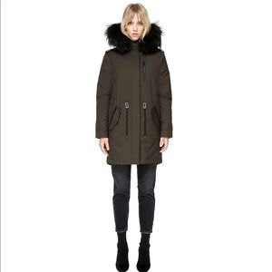 Mackage down parka with natural fur trim.